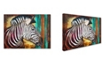 "Trademark Global Corina St. Martin 'Zebra Stripes' Canvas Art - 32"" x 24"" x 2"""