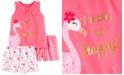 Carter's Little & Big Girls 3-Pc. Flamingo Pajamas Set