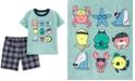Carter's Toddler Boys 2-Pc. Sea Creature-Print T-Shirt & Plaid Shorts Set