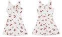 BCX Big Girls Cherry-Print Skater Dress