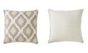 "Jaipur Living Nikki Chu By Venus Beige/White Ikat Down Throw Pillow 22"""