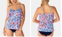 Swim Solutions Mastectomy Tankini Top & High-Waist Bottoms, Created for Macy's