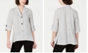 JM Collection Petite Textured 3/4-Sleeve Jacket, Created for Macy's