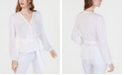 INC International Concepts I.N.C. Gauze Wrap Top, Created for Macy's