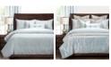 PoloGear Gateway Sea Blue Embossed 6 Piece Full Size Luxury Duvet Set