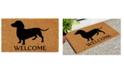 "Home & More Dachshund 17"" x 29"" Coir/Vinyl Doormat"