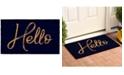 "Home & More Canty Hello Black 24"" x 36"" Coir/Vinyl Doormat"