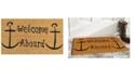 """Home & More Welcome Aboard 17"""" x 29"""" Coir/Vinyl Doormat"""