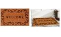 """Home & More Welcome Curlicue 24"""" x 36"""" Coir/Vinyl Doormat"""