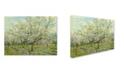 "Trademark Global Van Gogh 'The White Orchard' Canvas Art - 47"" x 35"" x 2"""