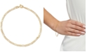 Italian Gold Figaro Link Chain Bracelet in 14k Gold
