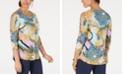 JM Collection Petite Lattice-Sleeve Tunic, Created for Macy's