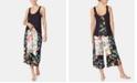 Betsey Johnson Floral-Print Tank & Culotte Pants Pajama Set