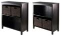 Winsome 3Pc Storage 3-Tier Shelf with 2 Small Baskets