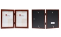 """Lawrence Frames Hinged Double Walnut Wood Picture Frame - Gallery Collection - 5"""" x 7"""""""