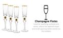 Qualia Glass Dominion Gold Flutes, Set Of 4