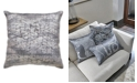 "Home Design Studio  20""x20"" Textured Velvet Decorative Pillow"