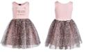 Pink & Violet Little Girls Meow Leopard-Print Dress