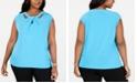 Kasper Plus Size Crisscross Blouse