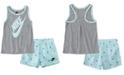 Nike Toddler Girls 2-Pc. Star Futura Logo Tank & French Terry Shorts Set