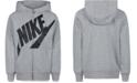 Nike Little Boys Futura Modern-Fit French Terry Full-Zip Logo Hoodie