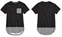 Univibe Big Boys Conner Pieced Checkerboard Pocket T-Shirt