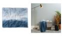 Deny Designs Ingrid Beddoes Hazy Morning Blues Woven Throw