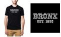 LA Pop Art Mens Premium Blend Word Art T-Shirt - Popular Bronx, NY Neighborhoods