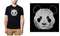 LA Pop Art Mens Premium Blend Word Art T-Shirt - Panda Head