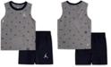 Jordan Toddler Boys 2-Pc. Cotton Printed Sleeveless T-Shirt & Shorts Set