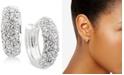 "Lauren Ralph Lauren Crystal Pavé Huggie Small Hoop Earrings 1/2"""