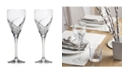 Lorren Home Trends DaVinci Grosetto Collection Oversized Wine Goblet - Set of 2