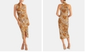 RACHEL Rachel Roy Animal-Print Faux-Wrap Dress