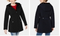 Laundry by Shelli Segal Petite Front Zip Hooded Quilted Coat