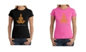 LA Pop Art Women's Word Art T-Shirt - Inhale Exhale