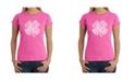 LA Pop Art Women's Word Art T-Shirt - Feeling Lucky