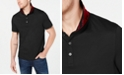 Michael Kors Men's Greenwich Intarsia Logo Collar Liquid Cotton Polo Shirt