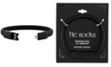 He Rocks iPhone Charger Bracelet In Black Leather and Stainless Steel