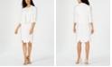 Kasper Flyaway Jacket & Textured Sheath Dress