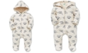 Little Me Baby Boys Cotton Dino-Print Quilted Coverall