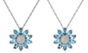 "Macy's Multi-Gemstone (3 ct. t.w.) 18"" Pendant Necklace in Sterling Silver"