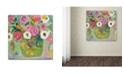 """Trademark Global Carrie Schmitt 'Sukhasana' Canvas Art - 35"""" x 35"""""""