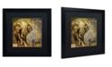 "Trademark Global Color Bakery 'Taste Of Africa III' Matted Framed Art - 16"" x 16"""