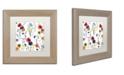 "Trademark Global Color Bakery 'Summer Linen' Matted Framed Art - 11"" x 11"""