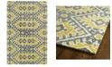 """Kaleen Global Inspirations GLB01-28 Yellow 5' x 7'9"""" Area Rug"""