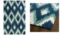"Kaleen Global Inspirations GLB10-17 Blue 3'6"" x 5'6"" Area Rug"