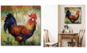 """Courtside Market Rooster 16"""" x 16"""" Gallery-Wrapped Canvas Wall Art"""