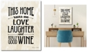 "Courtside Market Love, Laughter and Wine 16"" x 20"" Gallery-Wrapped Canvas Wall Art"