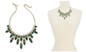 """INC International Concepts INC Gold-Tone Stone & Imitation Pearl Statement Necklace, 17"""" + 3"""" extender, Created for Macy's"""
