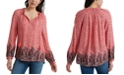 Lucky Brand Giselle Peasant Top